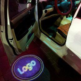 $enCountryForm.capitalKeyWord Australia - JURUS For Ford 2pcs Wireless Car Door Logo Ghost Shadow Welcome Light Auto Emblem LED Projector Lamp For Most Cars logo light