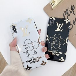 $enCountryForm.capitalKeyWord Australia - Wholesale luxury designer phone case gold printing For iphone x xr max 6 7 8 plus high quality Cell phone cover stunk free shipping