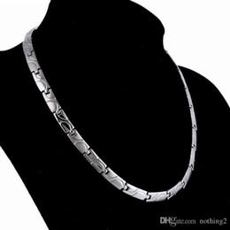 joyas de diseño collar de acero de titanio joyería sana energía magnética para los hombres sanos libres de la manera caliente de envío en venta