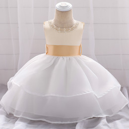 Tulle calf lengTh dress online shopping - 2019 cross border baby girl skirt wedding dress princess pettiskirt wash dress