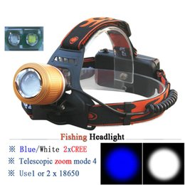 $enCountryForm.capitalKeyWord NZ - Zoom LED Headlamp White Blue Light XML T6 Waterproof Headlight 18650 Battery Fishing Head Lamp Torch Head Light for Hunting