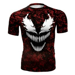 $enCountryForm.capitalKeyWord Australia - Men's fashion creativity t-shirt The Avenger tights tee superhero Venom2 sport short sleeves cycling fast dry basketball vest
