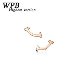 China WPB highest version S925 silver charm selection rose gold smile earrings high-end jewelry girlfriend birthday gift cheap smiling jewelry suppliers