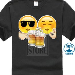 $enCountryForm.capitalKeyWord NZ - Emoji Love Beer 2019 New Funny Men's T Shirt Fashion Black Top Tee Shirt Hippie Casual Street Wear Cartoon Designer Kawaii