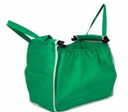 Foldable Flats Wholesale UK - Wholesale 1Pcs Supermarket Shopping Bag Foldable Tote Reusable Big-size Washable Eco-friendly Grab Bag Supermarket Trolley Bag