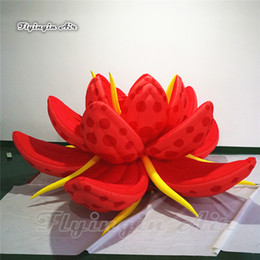 blooms flowers UK - Simulated Blooming Inflatable Lotus Flower 3m Diameter Huge Plant Flower For Theme Park And Wedding Decoration