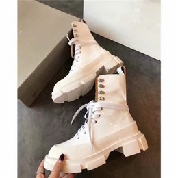 female boot sole Australia - Hot Sale- female boots New autumn and winter leather joker with Martin boots Thick-soled mid-tube British style army locomotive boots