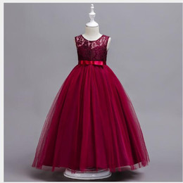 $enCountryForm.capitalKeyWord Australia - Selling Children's Sleeveless Lace Wedding Dresses and Long Skirts Girls P iano Dresses Princess Skirts Spot Full dress