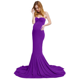 d57a1f636e0 Maxi Gown Dress Sleeveless Long Elegant Pregnant Dress for Photo Shoot Off  Shoulder Maternity Photography Props