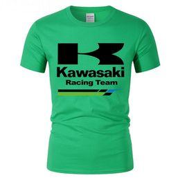Kawasaki Ninja Green Pink UK - New brand T Shirts Kawasaki Ninja racing team Men t-shirt youth boy casual cotton tshirt homme tops tee summer fitness short sleeve teeshirt