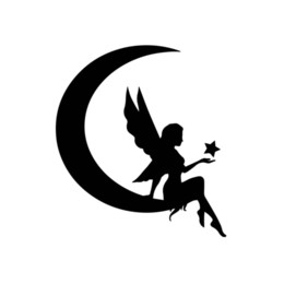 $enCountryForm.capitalKeyWord Australia - Fairy on Moon with Star Decal Window Bumper Sticker Car Decor Fairies Wings Kids