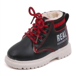 fashion boots for boys Australia - COZULMA New Autumn Winter Kids Fashion Boots For Boys Girls Super Warm Shoes Baby Boys Girls Snow Boots Children Martin