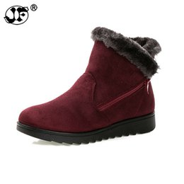 $enCountryForm.capitalKeyWord UK - Winter Boots Women 2018 Zipper Ankel Boots For Women Wedges Ladies Casual Shoes Solid Snow Boots Bota Feminina hn89