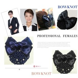 Girls satin bow hair clip online shopping - Sweet PC Sweet Girl Satin Bow Barrette Lady Hair ClipBow Barrette Hair Clip Cover Hairpins Bowknot Bun Snood Accessories
