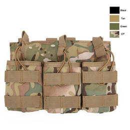 Molle Mag bag online shopping - Airsoft Gear Molle Bag Vest Accessory Camouflage Pack Cartridges Clip Carrier Ammo Holder Tactical Mag Triple Magazine Pouch NO11