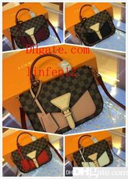 $enCountryForm.capitalKeyWord Australia - Men s travel Bags Women bag real Leather Handbags Leather keepall 45 Shoulder Bags totes 40146 size 25.0 x 18.5 x 9.5 cm
