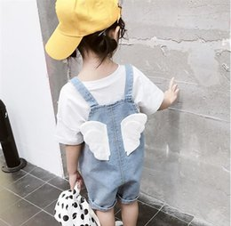 $enCountryForm.capitalKeyWord Australia - Girls Summer Jumpsuit 2019 Fashion Kids Denim Overall Toddler Clothes Girl Big Pocket Back Wings Jeans Overalls 2-7Years Outfits