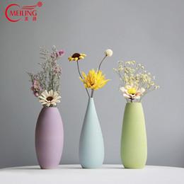 Filler Flowers NZ - Tall Matt Ceramic Decorative Vase For Homes Porcelain Flower Filler For Wedding Centerpieces Office Room Restaurant Decorations