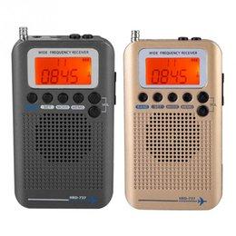 Banda de Aeronaves Receptor de Rádio VHF Portátil Full Band Radio Recorder para AR / FM / AM / CB / VHF / SW 2019 Novo venda por atacado