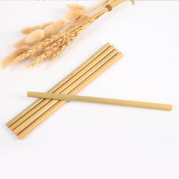 color bar products Australia - Solid Color Bamboo Straw Catering Bar Drink Straw Hollow Bamboo Tube Green Bamboo Products Straight One Size 57