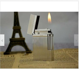 light quality lighters NZ - High Quality Gas Lighter Ping Sound Men's Gift Silver
