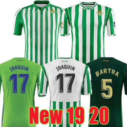 4db61b6b6 2019 2020 camiseta real betis LIMITED EDITION CHECKERED soccer jersey  JOAQUIN white green 19 20 BARTA TELLO WILLIAM CARVALHO football shirts