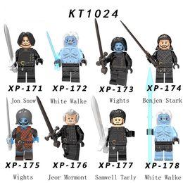 Building Figures Australia - New Game of Thrones Season 8 Figure Jon Snow Benjen Stark White Walker Wights Jeor Mormont Samwell Tarly Building Blocks Toys