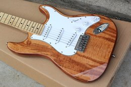 Elm For Body Electric Guitar Australia - Factory custom elm body small tremolo bridge electric guitar with SSS pickups,white pickguard,chrome hardware,can be customized