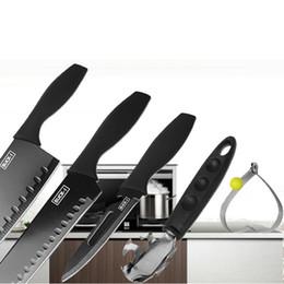 Kitchen Chef Knives Set Australia - 5pcs Set Stainless Steel Kitchen Knives Utility Knife Sharp Chef Knives Fried Egg Mold Vegetable Meat Fruit Slicing Knife BC BH1479