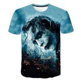 Chinese  20 different styles Clown male 3D Print Men's Short Sleeve T-Shirt Plus Size M-5XL t-shirt Men 3D Designer Clothing manufacturers
