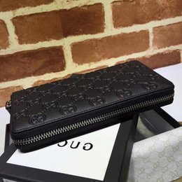 $enCountryForm.capitalKeyWord Australia - New Top Quality Luxury Celebrity Design Letter Ribbon Embossing Zipper Wallet Cowhide Leather Black Man Woman 307987 Long Purse Clutch
