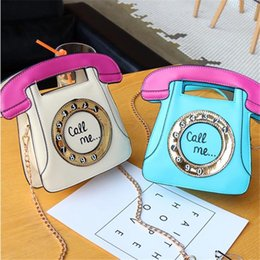 Phone Chain Color Australia - Factory wholesale brand women handbag retro color phone women handbag sweet cute cool leather Chain bag new special shape bag