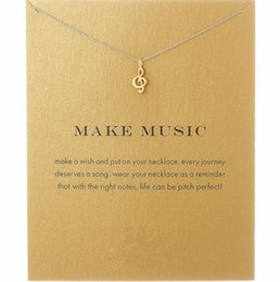 Music notes online shopping - New Fashion Dogeared Necklaces Women s Alloy Love Make Music Note Fashion Pendant Chain Necklace T061