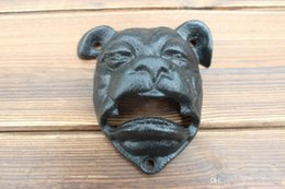 Beer Bottle opener wall online shopping - American vintage cast iron beer bottle opener Creative dog head shaped wall mounted opener