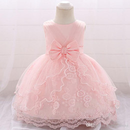 $enCountryForm.capitalKeyWord NZ - 1st Birthday Dress For Princess Girls Clothes 2019 Summer Lace Party Christening Gowns Toddler Kids Dresses 1 Year Old Event Clothing