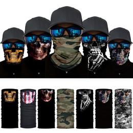 Boys Black Face Mask Australia - 3d Seamless Balaclava Magic Scarf Neck Face Mask Ghost Skull Skeleton Head Bandana Shield Headband Headwear Bandana Men Bicycle