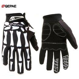 $enCountryForm.capitalKeyWord Australia - Qeqae Skeleton Pattern Unisex Full Finger Bicycle Cycling Motorcycle Motorbike Racing Riding Gloves Bike Glove for Women and Men