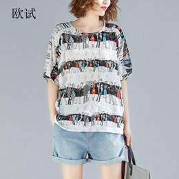 19a5141c10d 2019 Summer Fashion Plus Size Tshirt Women Anime Print Big Size Cotton  Linen T Shirt Ladies Loose Casual Tee Tops Femme Thin Y190509
