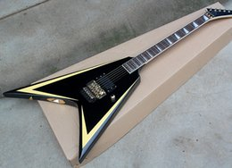 Fingerboard Rosewood Inlay Australia - Black Electric Guitar with 1 Pickup,Serrated Inlay,Floyd Rose,Rosewood Fingerboard,offering customized services