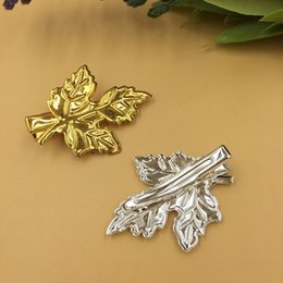 $enCountryForm.capitalKeyWord NZ - 20pcs 30*40mm Fashion brass French barrettes Alligator clips maple leaf hairpin gold silver hairclip hair clip pin hairwear jewelry