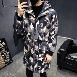 $enCountryForm.capitalKeyWord NZ - Streetwear Hip Hop Male Hooded Overcoat Warm Cotton Coat Men Clothing Men Thicken Long Loose 2018 Winter Casual Parkas Jacket