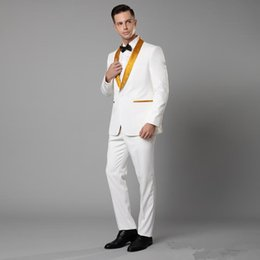 British Slim Fit Suits NZ - 2019 men's new tuxedo suit British style custom groom men's slim fit suit wedding dress 2 pieces (coat + pants)