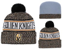 Wholesale Vegas Golden Knights hat Ice Hockey Knit Beanies Embroidery Adjustable Hat Embroidered Snapback Caps Sport Knit hat