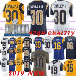 Top quality 30 Todd Gurley Los Angeles jerseys Rams 99 Aaron Donald 16  Jared Goff jersey 2019 new High-quality 443016778