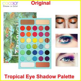 Pigmented eye shadow online shopping - Makeup Docolor Tropical Eyeshadow Palette Color Eye Shadow Matte Glitter Highly Pigmented Eyeshadow Powder Long Lasting Waterproof