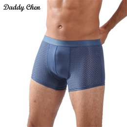 Wholesale Mens White Boxer Shorts Australia - 2018 Brand Breathable Mesh Silk boxer shorts men underwear mens trunks Cotton underpants Bodysuit panties male underwear