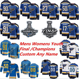 2019 Stanley Cup Finale St. Louis Blues Hockey Trikots Vladimir Tarasenko Trikot Alex Pietrangelo Jake Allen Colton Parayko Binnington Benutzerdefiniert on Sale