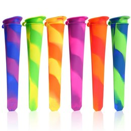 $enCountryForm.capitalKeyWord Australia - Colorful Silicone Ice Pop Maker Tube Tray Popsicle Mold Frozen Ice Cream Yogurt Mould with Lids Jelly Lolly Pop Maker Popsicle Mold Children