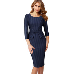 a60ccf5f8 Vfemage Vintage Color Sólido Imprimir Ruffle Bow Wear To Work Cremallera Vestidos  Bodycon Oficina Business Business Vaina Vestido de Las Mujeres 361 ...