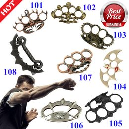 Chinese  New F-S Chromed Kirsite Brass Knuckles Dusters Outdoor protective equipment men and women self - defense equipment finger ring manufacturers